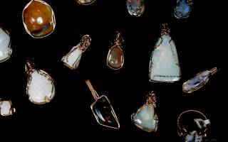 Wire-wrap opals are a specialty